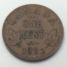 1932 Canada 1 One Cent Copper Penny Circulated Canadian Coin G041