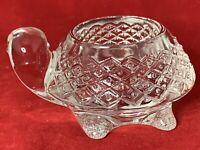 VINTAGE AVON CLEAR GLASS TURTLE VOTIVE TEA LITE CANDLE HOLDER PAPER WEIGHT