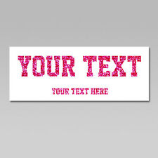Custom Your Text Iron On Heat Transfer, Straight T. Sports Font, Glitter Flakes