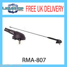 RMA807 AUTOLEADS FLEXIBLE BLACK ROOF MOUNT CAR VEHICLE AERIAL VAN AM/FM CAR VAN
