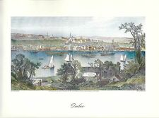 VINTAGE ART PRINT OF EARLY PICTURESQUE AMERICA - 1874 - QUEBEC
