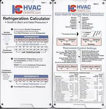 Refrigerant Calculator with Thermostat Control Settings