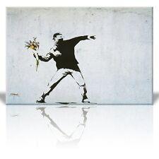 Canvas Print Wall Art - Rage the flower thrower - Street Art - 12 x 18 Inches