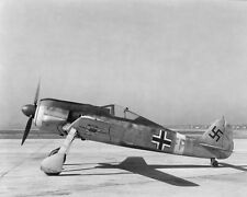 FOCKE-WULF FW 190 GERMAN AIRCRAFT WWII  8x10 SILVER HALIDE PHOTO PRINT