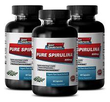 Organic SPIRULINA  500mg 100% Plant-Based  Extract, Weight Loss,Potassium 3Bot