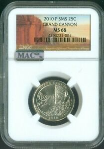 2010-P GRAND CANYON National Parks Uncirculated Quarter NGC MAC MS68 SMS Quality