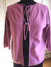H&M Schöne Strickjacke zum Binden Cotton*Fuchsia/ Pink*Gr M*kaum getragen