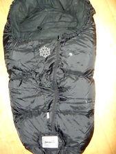 Hochwertiger warmer Daunen Fußsack von Odenwälder BabyNest Snowline 90cm schwarz