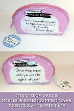 Sabiduría de los niños Lápiz De Cosmético Funda Rosa Cremallera Dbl-SD Cenicienta Zapatos Máscara De Disney