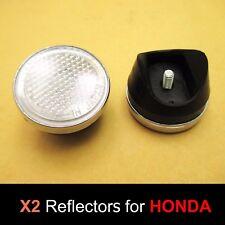 Honda DAX ST50 ST70 Monkey Z50 A White Front Fork Stanley Reflector Pair Japan