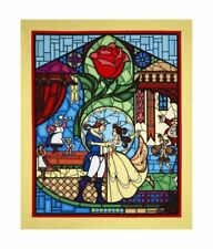 Disney Beauty & The Beast Yellow 100% cotton Fabric by the panel 43 x 35