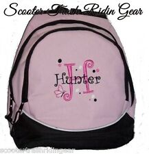 PERSONALIZED monogram Backpack book bag pink polka dots school book bag NEW