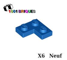 Lego 2420 x6 Plate 2 x 2 Corner Blue