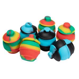 35ml NonStick Silicone Jar Box Honey Pots mix colors