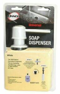 Danco White Universal Straight Soap  Dispenser, 10041 NEW