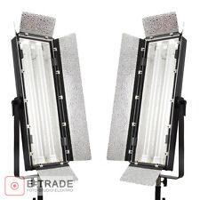 2pcs PANEL LAMP - 110W Fluorescent Light Kinoflo type video studio + diffuser