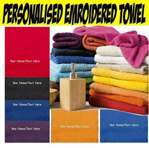 Personalised Embroidered T03509 Guest Towel Your Text Here Kids & Adults Towel