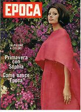 EPOCA 708 19 APRILE 1964 SOPHIA LOREN MODA CHRISTIAN DIOR RICHARD BURTON ARPINO