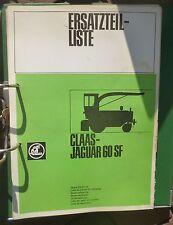 Claas Häcksler Jaguar 60 SF Erssatzteilkatalog