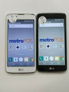 Lot of 2 LG K7 MS330 8GB Metro Check IMEI Fair Condition LR-326