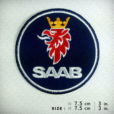 SAAB EMBROIDERED PATCH IRON ON, SEW, Winner Racing Sport Motor DIY Hobby Clothes