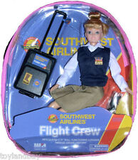 "Flight Attendant Doll Southwest Airlines 11"" Blond w/ Backpack & Accessories SWA"