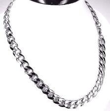 klassisch Edelstahl Kette Halskette für Männer N1 silber lang 50 cm ca. 90 Gramm