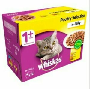Whiskas 11+ Poultry Selection in Jelly Cat Pouches, 100g - 12 Pack