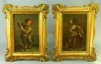! GEORGE MORLAND (British, 1763-1804) - Pair Oil on Copper Paintings Boy & Girl