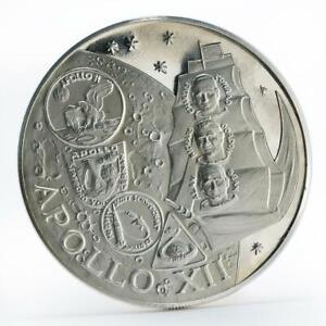Fujairah 10 riyals Apollo XII Moon Landing Program proof silver coin 1970