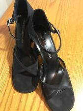 Chinese Laundry Melanie Mesh and Fabric Block High Heels-Size 10M-SHIPS FREE