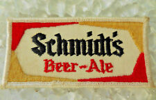 Vintage Small Schmidts Beer Ale Embroidered Patch