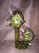 Art Glass Double Fish Beach House Decor