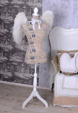 Mannequin Nostalgia Bust Tailoring Doll Shabby Torso Antique Style Wooden Stand