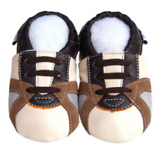 Soft Sole Leather Baby Shoes Firstwalk Toddler Infant Kids Trainer Beige 30-36M