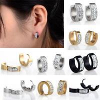 Estilo Punk Pendientes De Botón Para Mujer Hombre Aretes Aro Earrings