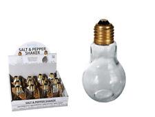 2 X Light Bulb Glass Novelty Salt Pepper Dispenser Container Mill Shaker Set