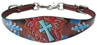 Showman Hand Painted Wither Strap With Cross Design! NEW HORSE TACK!