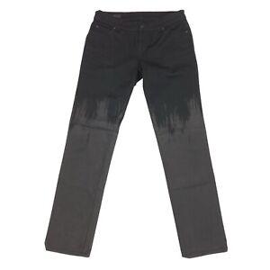 Gucci Womens Black Paint Splash Slim Skinny Jeans Size Italian 40 40X30 Low Rise