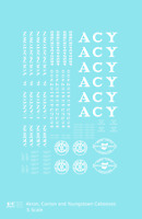 K4 S Decals Akron Canton and Youngstown Caboose Passenger Or MOW Car White ACY