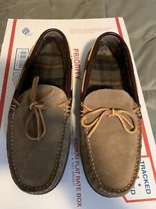 L.L.Bean Mens Handsewn Slippers Flannel Lined Mens 9 NWOT