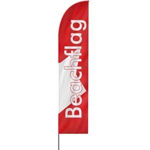 Beachflag Premium Gerade mit Wunschdruck in 4 Größen, Werbefahne, Strandfahne
