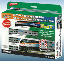 KATO 1068701 N Metra MP36PH #427 Bi-Level Commuter SET LOCO + 3 CARS 106-8701