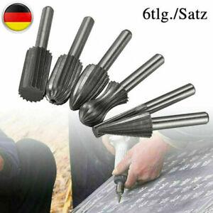 6 Stk. HSS-Fräser Satz Frässtifte 6mm Schaft Bit Geeignet Für Bohrmaschine Holz