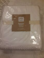 New listing Nwt Pottery Barn Teen Bohemian Ruffle Bed Skirt in White Full Size 14 Inc Drop