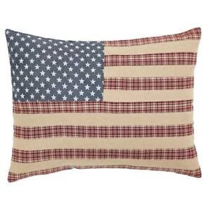 14 X 18 Independence Flag Throw Pillow Rustic French Country 100% Cotton Bedding