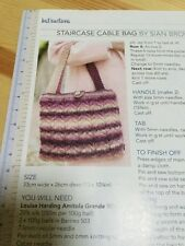 Take Me Anywhere Purse & Staircase Cable Bag Knitting Pattern