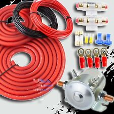 Heavy Duty 4 Gauge Cable Dual / Auxiliary Battery 200 Amp Isolator Kit Universal