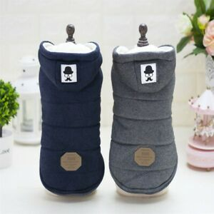 Small Pet Dog Winter Warm Clothes Puppy Cotton Padded Hooded Sweater Coat Jacket