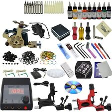 OPHIR 367pcs Complete Tattoo Kit Equipment with Teaching CD 9 Color 30ml Pigment